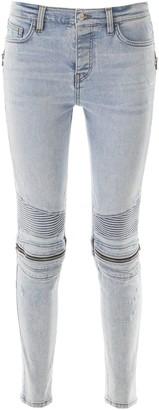 Amiri Zipped Skinny Jeans