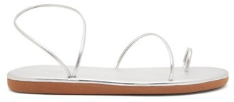 Ancient Greek Sandals Kansiz Metallic Leather Sandals - Womens - Silver
