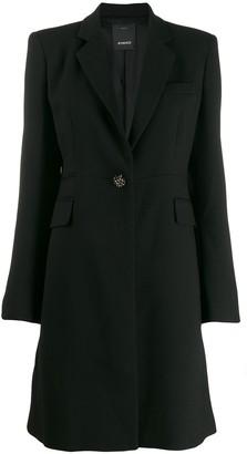 Pinko tailored midi coat