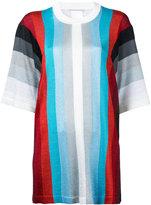 Marco De Vincenzo striped short sleeve jumper - women - Acetate/Polyester/Polyamide - 46