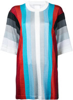 Marco De Vincenzo striped short sleeve jumper - women - Polyamide/Polyester/Acetate - 46