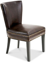 Walman Leather Accent Dining Chair, Quick Ship