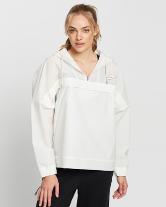Nike Women's White Parkas - Earth Day Anorak Jacket - Size S at The Iconic