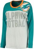 Women's Aqua Miami Dolphins Ralph Long Sleeve T-Shirt