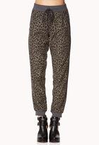 Forever 21 Cozy Leopard Print Sweatpants