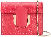 Salvatore Ferragamo Gancio studded crossbody bag - women - Leather - One Size