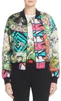 Etro 'Arcade' Print Quilted Silk Bomber Jacket