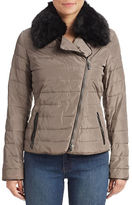 Armani Jeans Faux Fur Collar Puff Coat