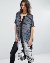 Religion Maxi Kimono In Tie Dye Print