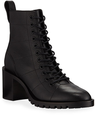 Jimmy Choo Cruz Lace-Up Combat Booties