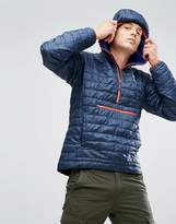 Patagonia Nano Puff Bivy Overhead Quilted Jacket In Navy With Red Binding
