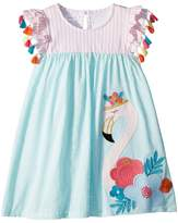 Mud Pie Flamingo Tassel Dress Girl's Dress