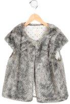 Kate Spade Girls' Cap Sleeve Faux Fur Vest w/ Tags