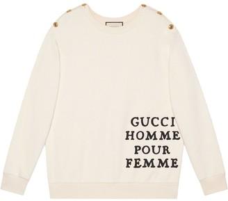 Gucci Homme Pour Femme print sweatshirt