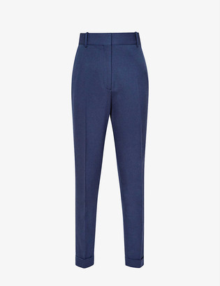 Reiss Sienna slim-leg high-rise wool-blend trousers