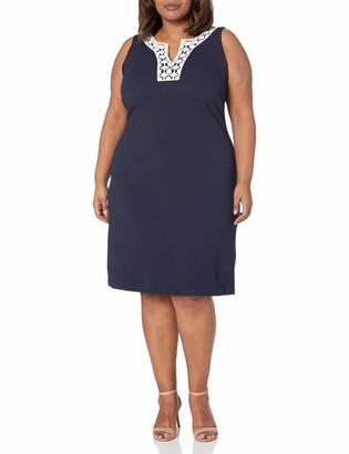 Ronni Nicole Women's Plus Size Lace Trim Textured Knit