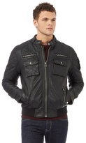 Red Herring Black Ribbed Hem Biker Jacket