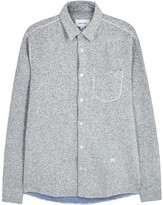 Soulland Logan Grey Bouclé Overshirt