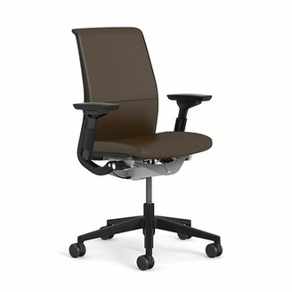 Steelcase Think Executive Chair Upholstery: Elmosoft Leather - Espresso (L133), Frame Finish: Seagull (7243)
