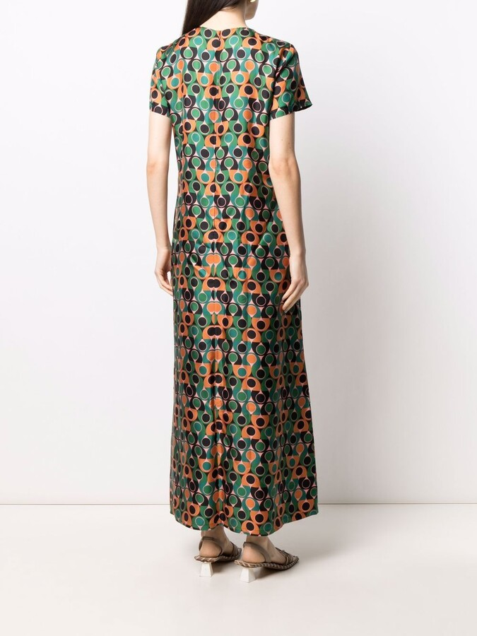 Thumbnail for your product : La DoubleJ Abstract-Print Silk Maxi Dress