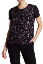 French Connection Rainbow Sequin Blouse