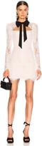 Rasario Lace Corset Mini Dress with Bow in White | FWRD