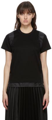 Noir Kei Ninomiya Black Satin Insert T-Shirt