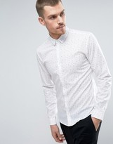 HUGO BOSS HUGO by Ero 3 Shirt Number Print Slim Fit in White