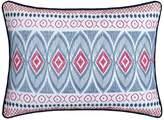 Birch Garden 200 Thread Count Embroidered Decorative Pillow - Navy