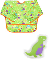 Bumkins Dino Cold Pack & Sleeved Bib