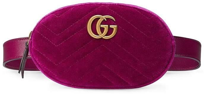 6bbccdfc242fbd Gucci Velvet Belt Bag - ShopStyle