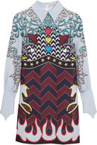 Mary Katrantzou Eden Printed Crepe Mini Dress - Blue