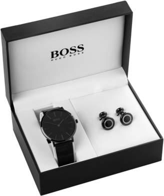 HUGO BOSS Mens Cufflink Box Set Watch