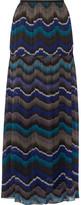 Diane von Furstenberg Isadorra Printed Silk-chiffon Maxi Skirt - Blue
