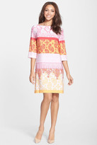 Donna Morgan D8890M Colorful Print Jersey Shift Dress