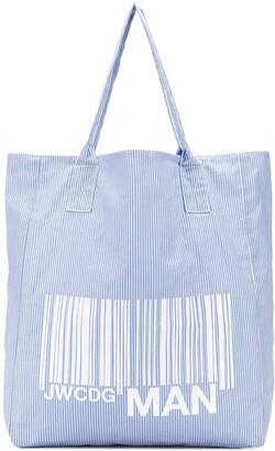 Junya Watanabe Striped Bar Code Tote Bag