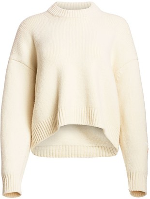 Alexander Wang Drape-Back Cotton Sweater