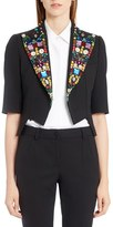Dolce & Gabbana Women's Crystal Embellished Wool Blend Jacket
