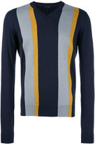 Lanvin striped jumper - men - Cotton/Merino - XS