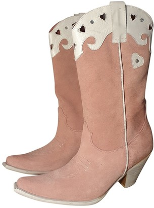 Non Signé / Unsigned Non Signe / Unsigned Pink Suede Boots