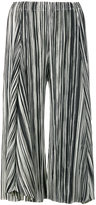 Pleats Please By Issey Miyake pleated cropped trousers