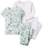 Carter's 4 Piece PJ Set (Toddler/Kid) - Floral-5T