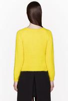 J.W.Anderson Yellow Angora Banded Raglan sweater
