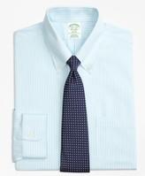 Brooks Brothers Milano Slim-Fit Dress Shirt, Non-Iron Tonal Stripe