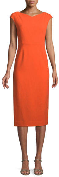 Diane von Furstenberg Cap-Sleeve Midi-Length Sheath Dress