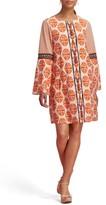 ECI Women's Print Bell Sleeve Dress