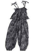 Flower Tiger Little Girls Summer Strap Harem Pants Romper Backless Jumpsuit Sunsuit Outfits