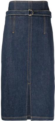 Philosophy di Lorenzo Serafini Denim Pencil Midi Skirt