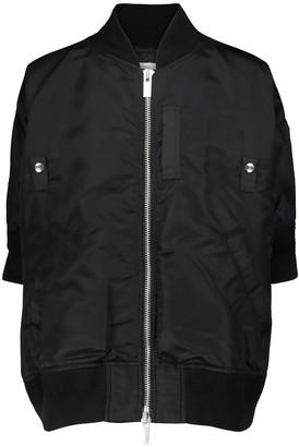 Sacai Short-sleeved bomber jacket