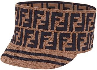 Fendi Knit Logo Wide Band Cap